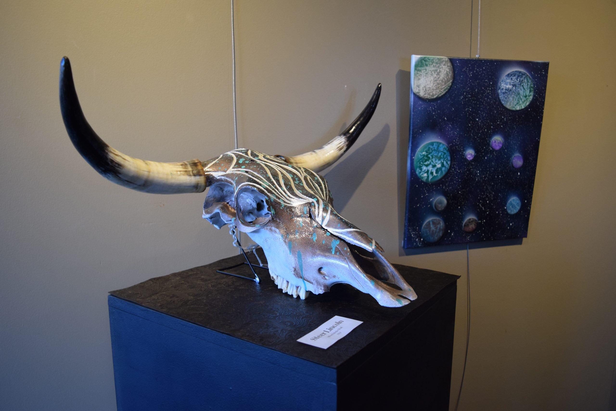 cow skull art 3